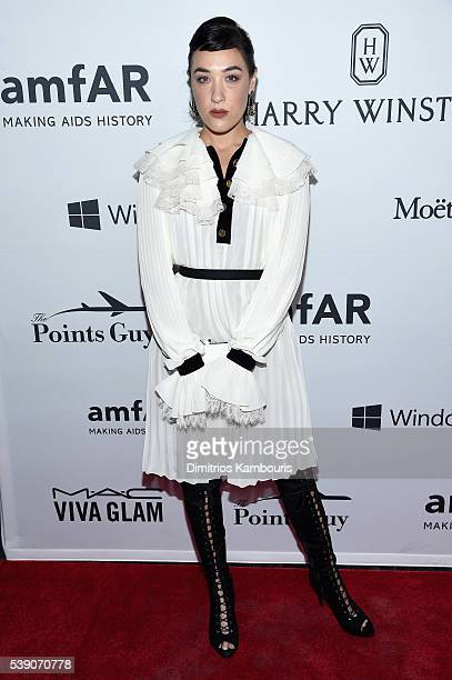 Actress Mia Moretti attends the 7th Annual amfAR Inspiration Gala New York at Skylight at Moynihan Station on June 9 2016 in New York City