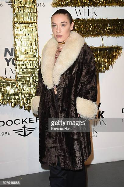 Actress Mia Moretti attends the Dockers x CFDA NYFWM Opening Party during New York Fashion Week Men's Fall/Winter 2016 at ArtBeam on February 1 2016...