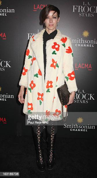 Actress Mia Sara arrives at LAFrock Stars Los Angeles Screening at LACMA on March 5 2013 in Los Angeles California
