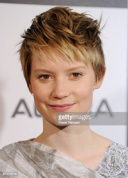 Actress Mia Wasikowska arrives at the 25th Film Independent's Spirit Awards held at Nokia Event Deck at LA Live on March 5 2010 in Los Angeles...