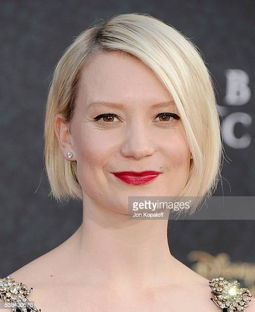 Actress Mia Wasikowska arrives at the Los Angeles Premiere 'Alice Through The Looking Glass' at the El Capitan Theatre on May 23 2016 in Hollywood...