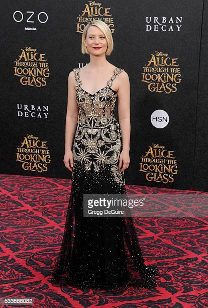 Actress Mia Wasikowska arrives at the premiere of Disney's 'Alice Through The Looking Glass' at the El Capitan Theatre on May 23 2016 in Hollywood...