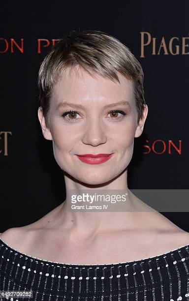 Actress Mia Wasikowska attends 'Crimson Peak' New York Premiere at AMC Loews Lincoln Square on October 14 2015 in New York City