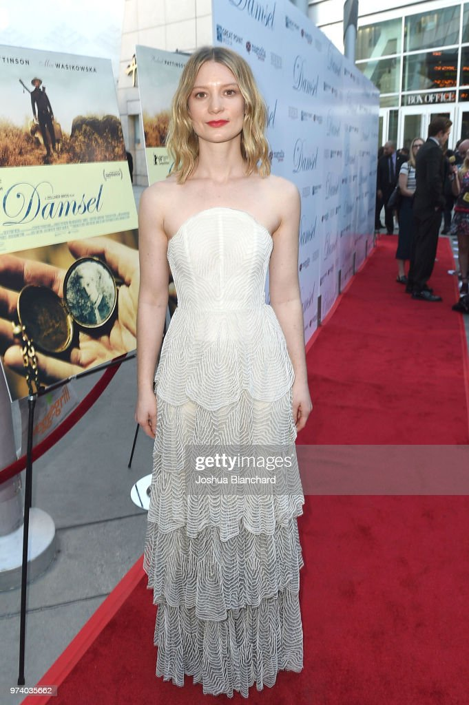Actress Mia Wasikowska attends Los Angeles Premiere of Magnolia's DAMSEL, sponsored by Casa Noble on June 13, 2018 in Los Angeles, California.