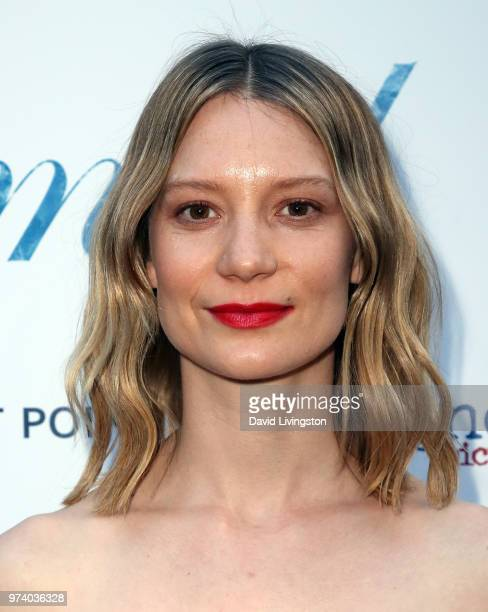 Actress Mia Wasikowska attends Magnolia Pictures' 'Damsel' premiere at ArcLight Hollywood on June 13 2018 in Hollywood California