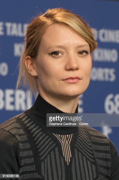 Actress Mia Wasikowska attends the 'Damsel' press conference during the 68th Berlinale International Film Festival Berlin at Grand Hyatt Hotel on...