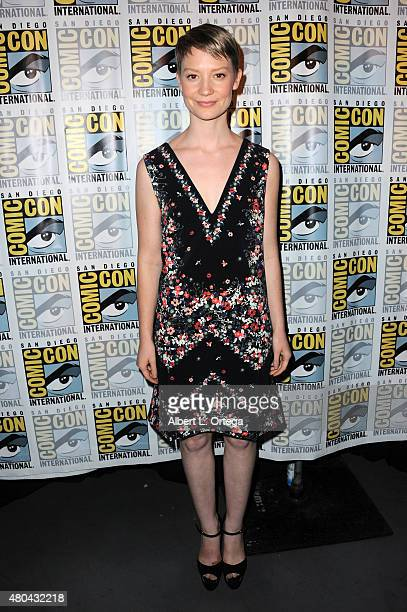 Actress Mia Wasikowska attends the Legendary Pictures panel during ComicCon International 2015 the at the San Diego Convention Center on July 11 2015...