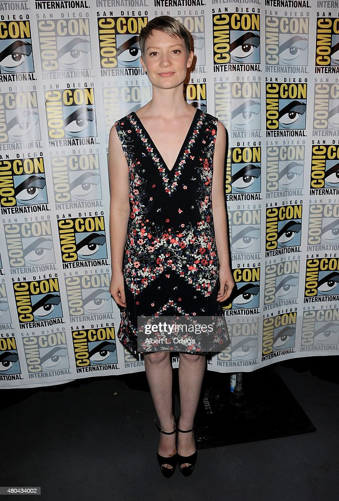 Actress Mia Wasikowska attends the Legendary Pictures panel during Comic-Con International 2015 the at the San Diego Convention Center on July 11, 2015 in San Diego, California.