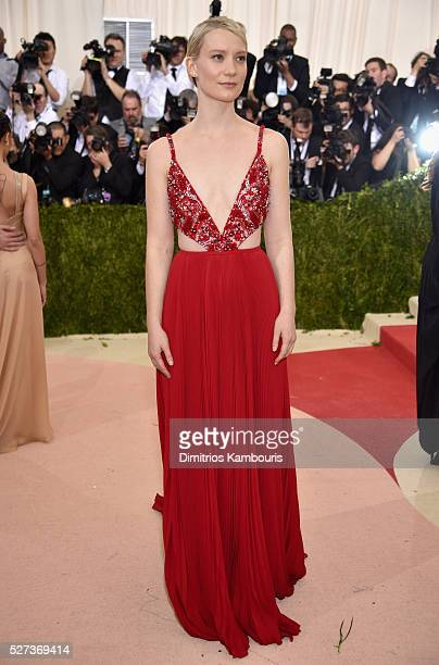 Actress Mia Wasikowska attends the 'Manus x Machina Fashion In An Age Of Technology' Costume Institute Gala at Metropolitan Museum of Art on May 2...