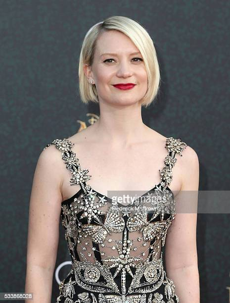 Actress Mia Wasikowska attends the premiere of Disney's 'Alice Through The Looking Glass at the El Capitan Theatre on May 23 2016 in Hollywood...