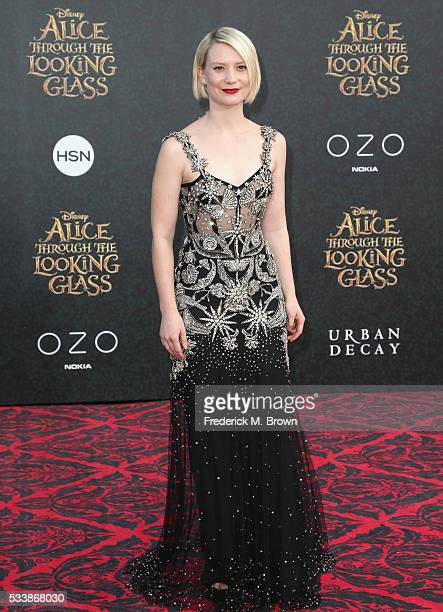 Actress Mia Wasikowska attends the premiere of Disney's Alice Through The Looking Glass at the El Capitan Theatre on May 23 2016 in Hollywood...