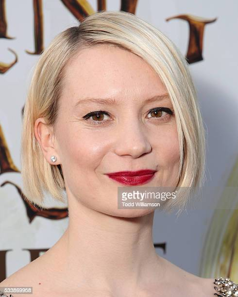 Actress Mia Wasikowska attends the premiere of Disney's 'Alice Through The Looking Glass' at the El Capitan Theatre on May 23 2016 in Hollywood...