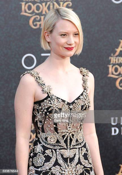 Actress Mia Wasikowska attends the premiere of Disney's' 'Alice Through The Looking Glass' at the El Capitan Theatre on May 23 2016 in Hollywood...