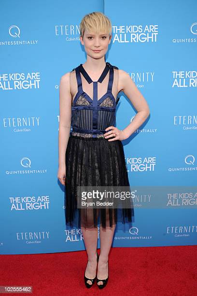 Actress Mia Wasikowska attends the premiere of the Kids Are All Right at Landmark's Sunshine Cinema on June 30 2010 in New York City