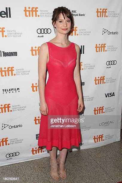Actress Mia Wasikowska attends the Tracks premiere during the 2013 Toronto International Film Festival at The Elgin on September 10 2013 in Toronto...