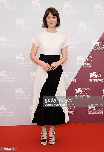 Actress Mia Wasikowska attends 'Tracks' Photocall during the 70th Venice International Film Festival at Palazzo del Casino on August 29 2013 in...