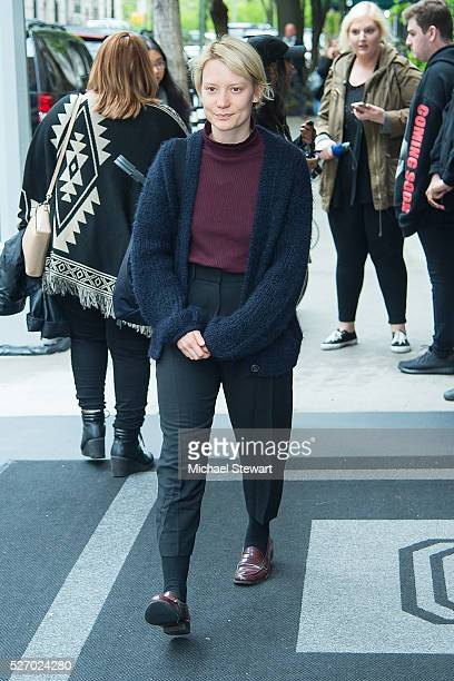 Actress Mia Wasikowska is seen in the Upper East Side on May 1 2016 in New York City
