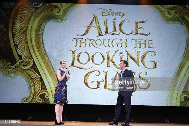 Actress Mia Wasikowska of ALICE THROUGH THE LOOKING GLASS and President of Walt Disney Studios Motion Picture Production Sean Bailey took part today...