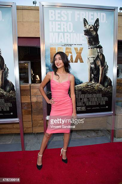 Actress Mia Xitlali attends the Los Angeles premiere of MAX at the Egyptian Theatre on June 23 2015 in Hollywood California