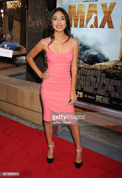 Actress Mia Xitlali attends the Los Angeles premiere of 'MAX' at the Egyptian Theatre on June 23 2015 in Hollywood California