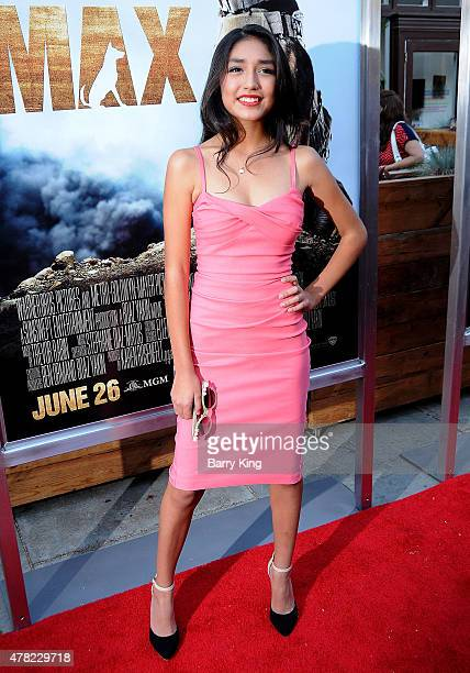 Actress Mia Xitlali attends the Premiere of Warner Bros Pictures and MetroGoldwynMayer Pictures 'Max' held at the Egyptian Theatre on June 23 2015 in...
