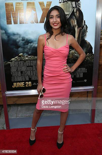 Actress Mia Xitlali attends the premiere of Warner Bros Pictures and MetroGoldwynMayer Pictures' Max at the Egyptian Theatre on June 23 2015 in...