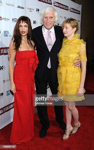 Actress Micaela Ramazzotti photographer Douglas Kirkland and actress Alba Rohrwacher attend the Cinema Italian Style Opening Night at the Egyptian...