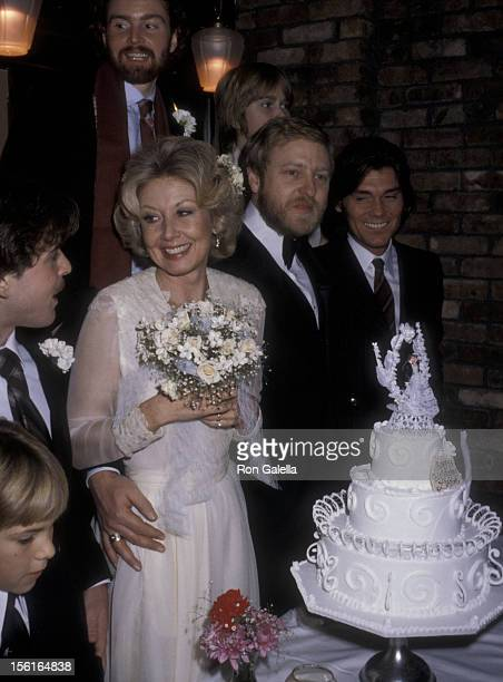 Actress Michael and William Parker Learned attend Michael LearnedWilliam Parker Wedding Reception on December 18 1979 at Jacques Restaurant in New...