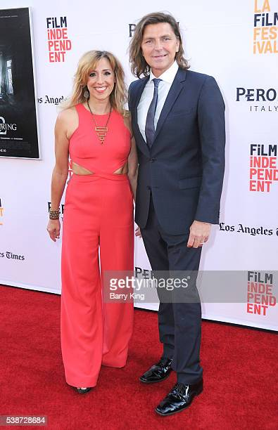 Actress Michael Ann Young and actor Robin Atkin Downes attend 2016 Los Angeles Film Festival 'The Conjuring 2' premiere at TCL Chinese Theatre IMAX...