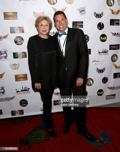 Actress Michael Learned and producer Gerry Pass attend the Action on Film MEGAFest International Film Festival at the Rio Hotel Casino on August 3...
