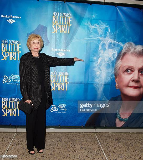 Actress Michael Learned attends Noel Coward's Blithe SpiritLos Angeles Opening Night Performance at Ahmanson Theatre on December 14 2014 in Los...