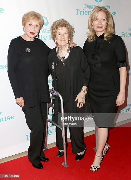 Actress Michael Learned Executive Director Peggy Albrecht and Babette Ison attend the Peggy Albrecht Friendly House's 27th Annual Awards Luncheon at...
