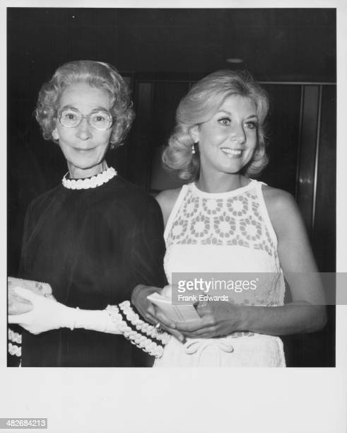 Actress Michael Learned with her friend at the Emmy Awards Los Angeles California 1974