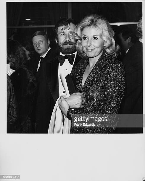 Actress Michael Learned with her husband Glenn Chadwick attending the Golden Globe Awards Hollywood California January 26th 1974