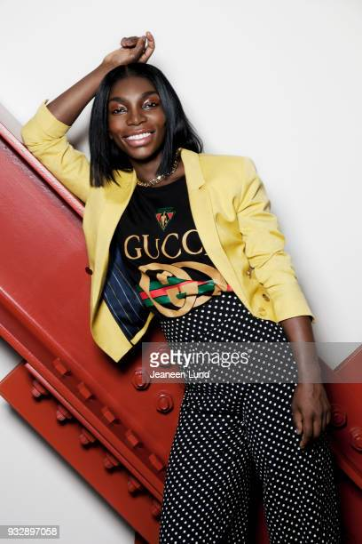 Actress Michaela Coel is photographed for Bust Magazine on February 17 2017 in Los Angeles California