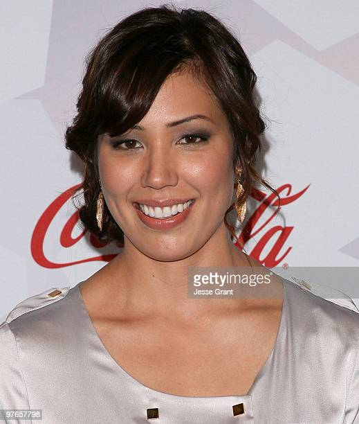 Actress Michaela Conlin arrives at Fox's Meet The Top 12 'American Idol' Finalists at Industry on March 11 2010 in Los Angeles California
