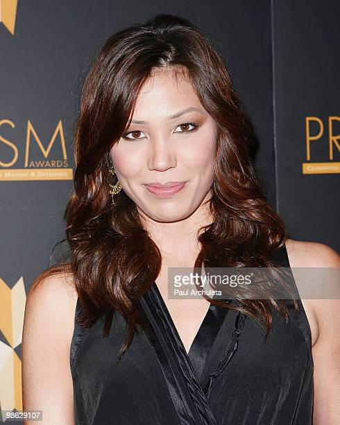Actress Michaela Conlin arrives at the 2010 PRISM Awards at Beverly Hills Hotel on April 22 2010 in Beverly Hills California