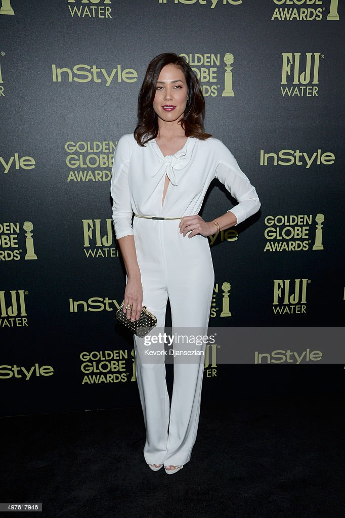 Actress Michaela Conlin attends Hollywood Foreign Press Association and InStyle Celebration of The 2016 Golden Globe Award Season at Ysabel on November 17, 2015 in West Hollywood, California.