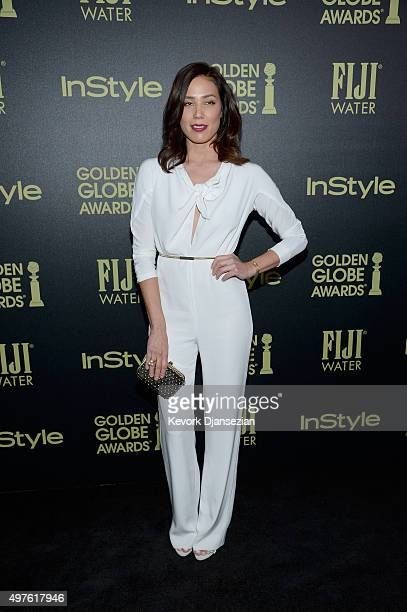 Actress Michaela Conlin attends Hollywood Foreign Press Association and InStyle Celebration of The 2016 Golden Globe Award Season at Ysabel on...