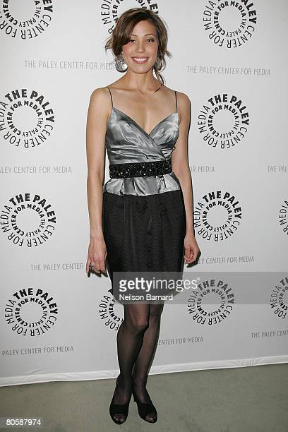 Actress Michaela Conlin attends The Paley Center for Media presents Make No Bones About It at The Paley Center on April 9 2008 in Beverly Hills...