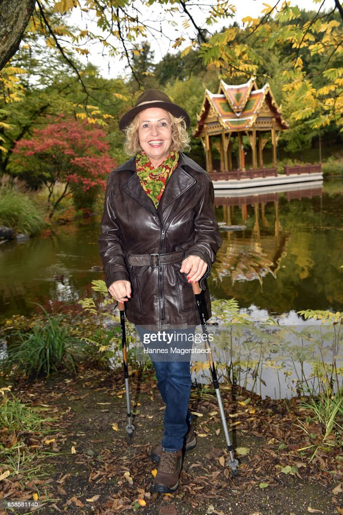 Actress Michaela May during the charity walk for the Mukoviszidose e. V. at Westpark on October 7, 2017 in Munich, Germany.