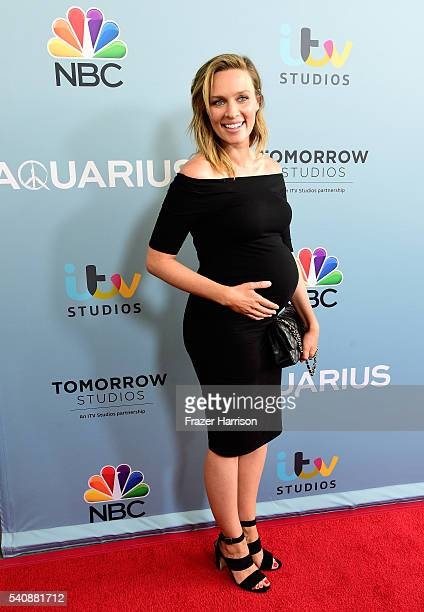 "Actress Michaela McManus arrives at the Premiere of NBC's ""Aquarius"" Season 2 at The Paley Center for Media on June 16, 2016 in Beverly Hills,..."