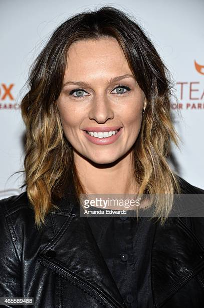 Actress Michaela McManus arrives at the Raising The Bar To End Parkinson's event at Public School 818 on March 7 2015 in Sherman Oaks California