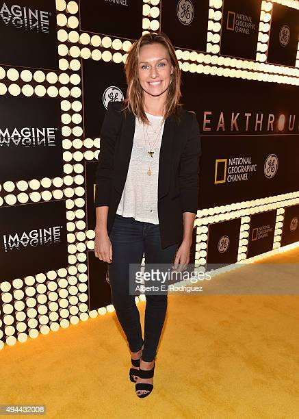 "Actress Michaela McManus attends National Geographic Channel's ""Breakthrough"" world premiere event at The Pacific Design Center on October 26, 2015..."