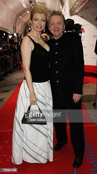 Actress Michaela Merten and actor Pierre Franckh attend the 34th annual German Film Ball at the Bayerischer Hof Hotel January 20 2007 in Munich...