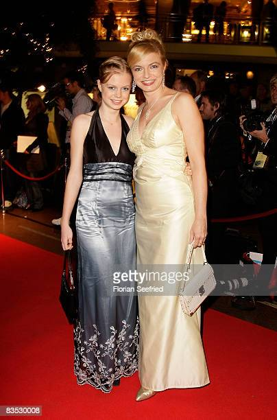 Actress Michaela Merten and Julia Franckh attends the Unesco Benefit Gala For Children 2008 at Hotel Maritim on November 01 2008 in Cologne Germany