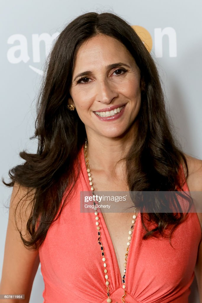 Actress Michaela Watkins arrives at the Amazon's Emmy Celebration at the Sunset Tower Hotel on September 18, 2016 in West Hollywood, California.