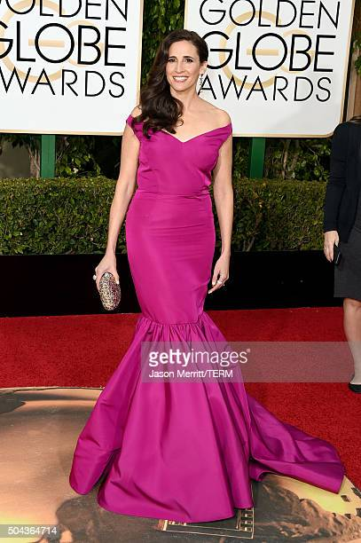 Actress Michaela Watkins attends the 73rd Annual Golden Globe Awards held at the Beverly Hilton Hotel on January 10 2016 in Beverly Hills California