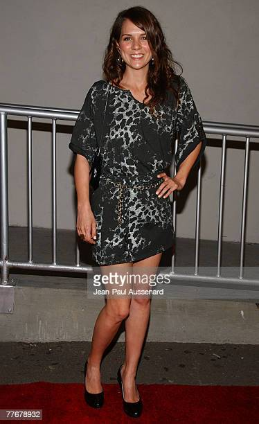 Actress Michala Banas arrives at Adrienne Frantz's record release party held at Area on October 29th 2007 in Los Angeles California