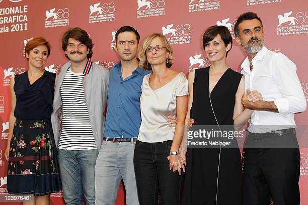 Actress Michela Cescon actor Denis Fasolo actor Filippo Timi director Cristina Comencini actress Claudia Pandolfi and actor Thomas Trabacchi pose at...